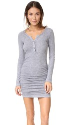 Lanston Ruched Henley Dress Heather