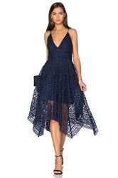Nicholas Geo Floral Lace Ball Dress Navy