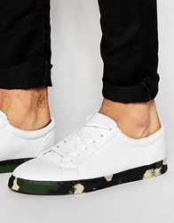 Asos Lace Up Trainers In White White