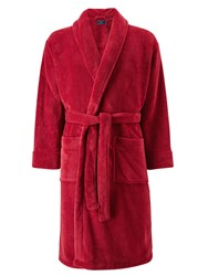 John Lewis Sheared Fleece Robe Burgundy