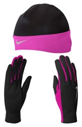 Women's Nike Dri Fit Beanie And Glove Set