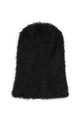 Topshop Plain Fluffy Beanie Black