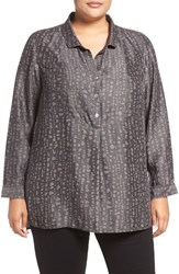 Nic Zoe Plus Size Women's Darling Print Denim Tunic