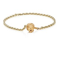 Luis Morais Men's Half Skull Clasp Chain Bracelet No Color