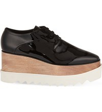 Stella Mccartney Elyse Flatform Derby Shoes Black Comb