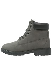 Your Turn Laceup Boots Grey