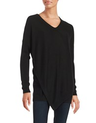 Lord And Taylor Layered Knit Sweater Black
