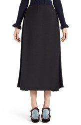 Fendi Women's Pleated Mohair And Wool Midi Skirt