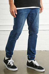 Forever 21 Cuffed Slim Fit Jeans