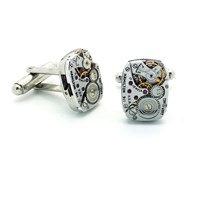 Lc Collection New Vintage Hamilton Watch Movement Cufflinks Silver
