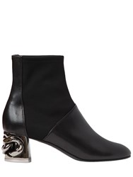 Casadei 50Mm Maxi Chain Leather Ankle Boots