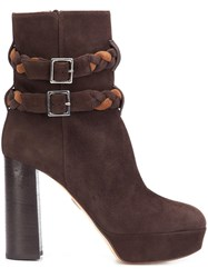 Ritch Erani Nyfc Braided Strap Boots Brown