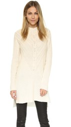 Milly Engineered Cable Tunic White