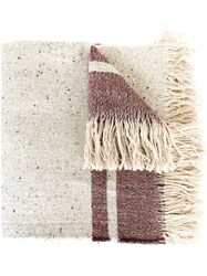 Forte Forte Large Woven Stripe Scarf Nude And Neutrals