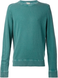 Massimo Alba Crew Neck Sweater Green