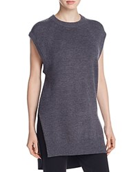 Dkny Pure Oversized Mixed Media Tunic Charcoal Heather