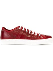 Geoffrey B. Small Classic Lace Up Sneakers Red