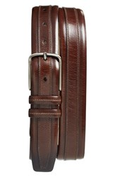 Men's Big And Tall Mezlan Leather Belt Brown