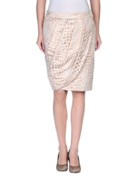Pauw Knee Length Skirts Copper