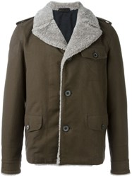 Lanvin Shearling Collar Jacket Brown