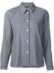 A.P.C. Long Sleeve Checked Shirt Blue