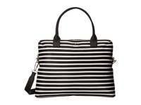 Kate Spade Classic Nylon Daveney Black Clotted Cream Satchel Handbags