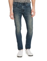 Kenneth Cole Washed Experiential Skinny Jeans Dark Indigo