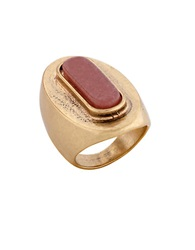 Lucky Brand Carnelian Cocktail Ring Red