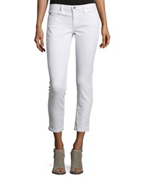 Ag Adriano Goldschmied The Stilt Roll Up Cropped Jeans White Size 30