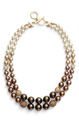 Women's Anne Klein Ombre Faux Pearl Necklace Brown Multi