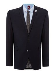 Lambretta Plain Notch Collar Slim Fit Suit Navy
