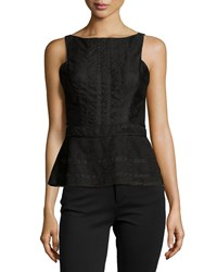 J. Mendel Striped Lace Peplum Top Women's