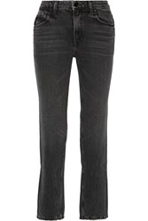 Alexander Wang Cult Mid Rise Straight Leg Jeans Black