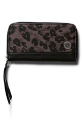 Junior Women's Volcom 'Outta Town' Zip Around Wallet Black