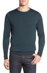 John Smedley Men's 'Marcus' Easy Fit Crewneck Wool Sweater Racing Green