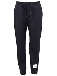 Thom Browne Button Hem Detail Trousers Blue