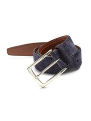 Saks Fifth Avenue Perforated Suede Belt Navy