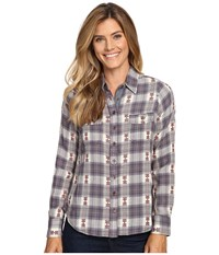 Aventura Clothing Joey Long Sleeve Top Mulled Grape Women's Long Sleeve Button Up Navy