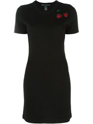 Marc By Marc Jacobs Embroidered Sequin Cherry Knit Dress Black