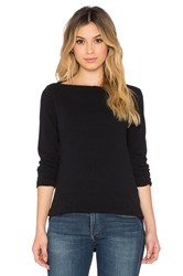 James Perse Jersey Boatneck Tee Black