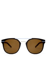 Christian Dior Al13.5 Pantos Style Sunglasses Brown Multi