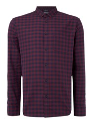 Criminal Men's Mercer Long Sleeved Shirt Claret