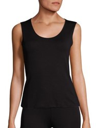 Armani Collezioni Sleeveless Jersey Top Black