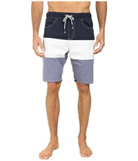 Howe Catalina Color Block Swim Walk Shorts Commodore Men's Swimwear Blue