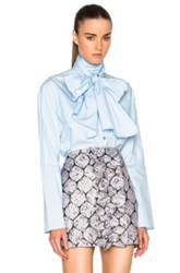 Suno Scarf Tie Top In Blue