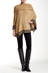 Simply Couture Cowl Neck Knitted Poncho Brown