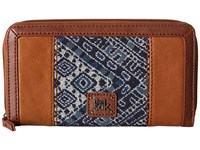 The Sak Iris Zip Around Wallet Blue Diamond Wallet Handbags