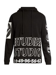 Etudes Factor Hooded Cotton Sweatshirt Black Multi