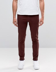 Jack And Jones Slim Fit Chino With Stretch Burgundy Red