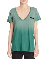 Wildfox Couture Ombre Wha Tee Prom Queen Green